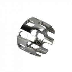 Aluminium CNC M4 Stock Tube Locking Nut Silver - Powair6.com
