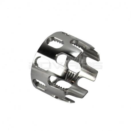 Aluminium CNC M4 Stock Tube Locking Nut Silver -