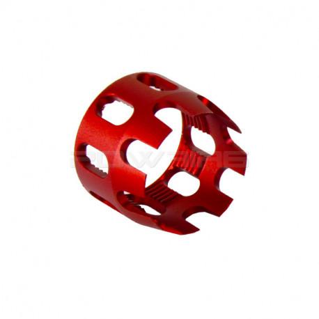 Anneau de serrage aluminium CNC pour tube de crosse M4 Rouge