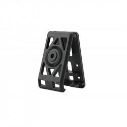 Amomax fixation ceinture noir pour holster et porte chargeur - Powair6.com