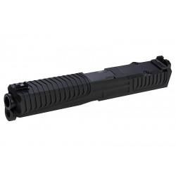 Nova SD Style CNC Aluminum Slide Set For Tokyo Marui Glock 17 - Black - Powair6.com