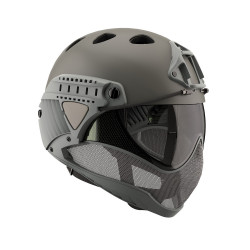 WARQ Full face helmet assembly with clear lens - Grey -