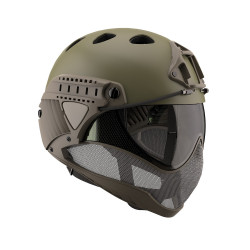 WARQ Full face helmet assembly with clear lens - Kaki -