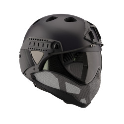 WARQ Full face helmet assembly with clear lens - Black -