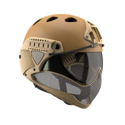 WARQ Full face helmet assembly with clear lens - Tan -