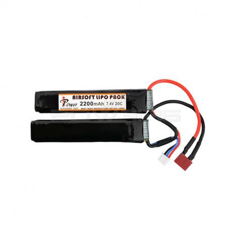 IPOWER batterie LIPO 7.4V 2200Mah 20C double stick (dean)