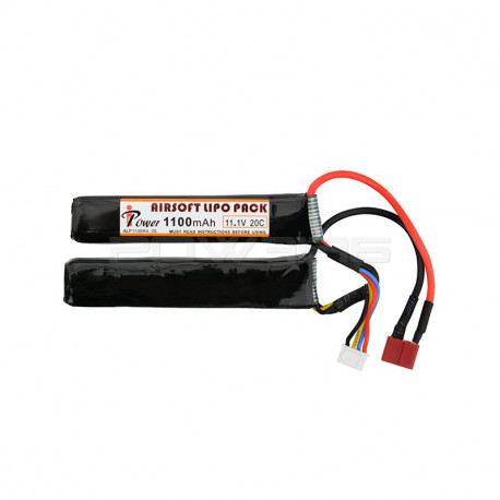 IPOWER batterie LIPO 11.1V 1100Mah double stick (dean)