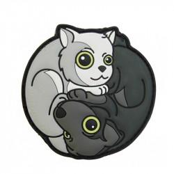 Black Dog - White Cat Yin & Yan Velcro patch