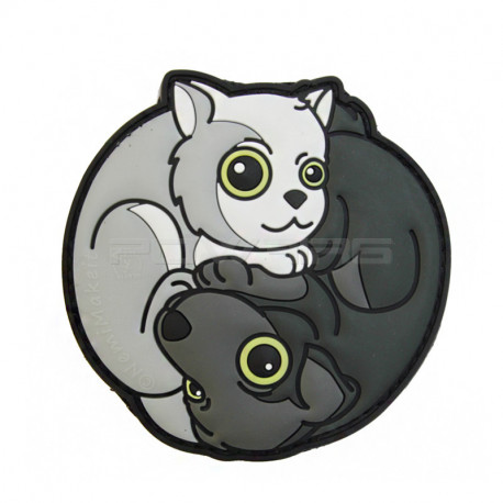 Black Dog - White Cat Yin & Yan Velcro patch - AIRSOFT