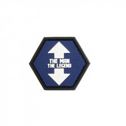 THE MAN / THE LEGEND Hexagon Velcro patch -