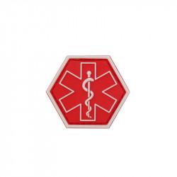 PARAMEDIC, red Hexagon Velcro patch -