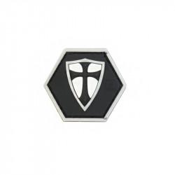 RECTE FACIENDO SHIELD, black version Hexagon Velcro patch