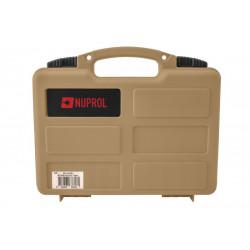 Nuprol Pistol Hard case with Cutted foam - TAN
