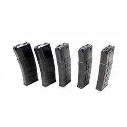 Airsoft Systems MidCap Polymer Magazine for AEG Pack - Black