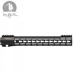 Kublai type Atlas S-ONE Keymod CNC rail for AEG 12 inch - black -
