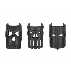 Kublai ORNAMENTAL REPLACEABLE MASK GRIP (3PCS) - Noir