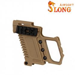 SLONG AIRSOFT Kit G-Kriss XI for Glock / Hi-capa - Brown