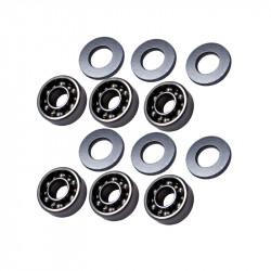 FPS Softair set de roulements 8mm pour A&K MINIMI / M60 / MK43 -