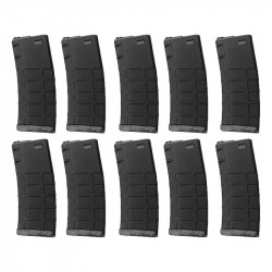 G&P GMAG 340rds Hi-Cap Magazine (BK) for AEG M4 (10pcs / Set)