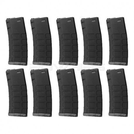 G&P GMAG 340rds Hi-Cap Magazine (BK) for AEG M4 (10pcs / Set) -