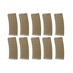 G&P GMAG 340rds Hi-Cap Magazine (TAN) for AEG M4 (10pcs / Set)
