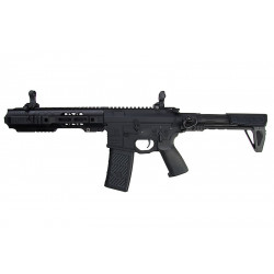 EMG Salient Arms GRY AR15 CQB AEG with PDW Stock - Black