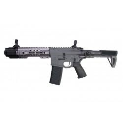 EMG Salient Arms GRY AR15 CQB AEG with PDW Stock - Grey