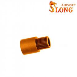 Slong rallonge outer barrel 20mm pour AEG - Orange