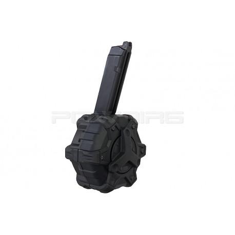 Armorer Works AW custom 350rds gaz Magazine for Glock 17 GBB - Black -