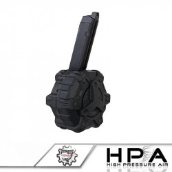 P6 AW custom 350rds Magazine for Glock 17 GBB HPA - black -