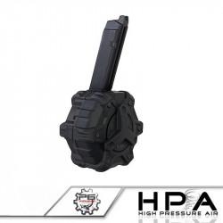 P6 AW custom chargeur 350 billes noir pour Glock 17 HPA -