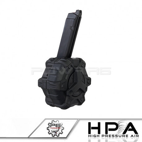P6 AW custom 350rds Magazine for Glock 17 GBB HPA - black
