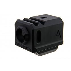 Agency Arms Airsoft Compensateur 417 noir pour Glock 17 14mm CCW -