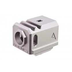 Agency Arms Airsoft Compensateur 417 gris pour Glock 17 14mm CCW -