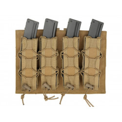 8FIELDS pouch molle pour 4 chargeurs MP5 MP7 MP9 & Kriss vector - TAN -