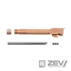 PTS ZEV Threaded Barrel for TM Glock 17 - Gold -