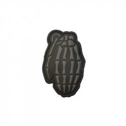 Skull grenate Velcro patch -