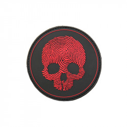 Patch Velcro Skull red
