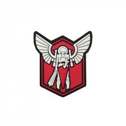 Archangel SAINT MICHAEL SHIELD red Velcro patch -
