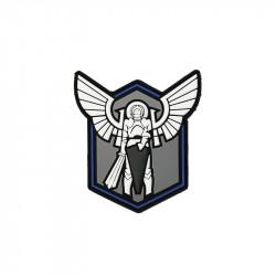 Patch Velcro Archangel SAINT MICHAEL SHIELD blue