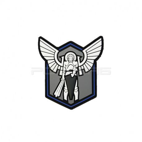 3D PVC Patch Abzeichen Thin Blue LINE Jackets To Go Archangel Saint Michael Shield TBL
