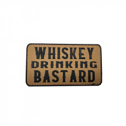 WHISKEY DRINKING BASTARD Velcro patch