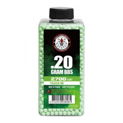 G&G 0.20gr Tracer Green BBs 2700 rounds -