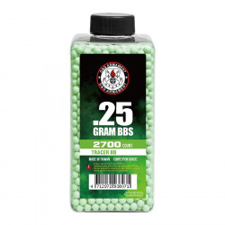 G&G 0.25gr Tracer Green BBs 2700 rounds -
