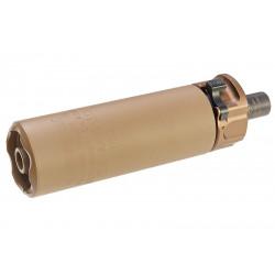 RGW silencieux Tan type SF SOCOM46 pour MP7 (12mm CW) -