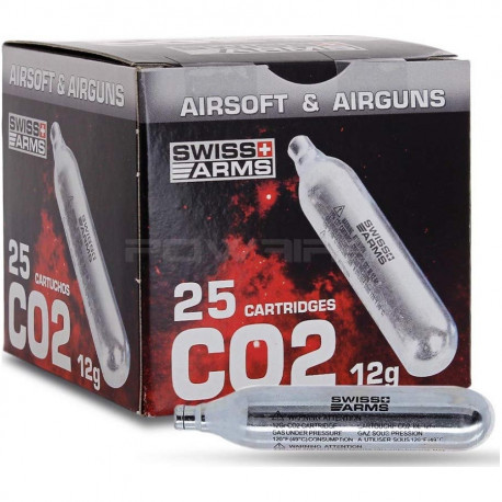 Swiss Arms Box of 25 X 12g co2 cartridge -