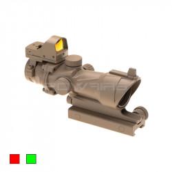 AIM 4x32IR ACOG style scope COMBO Desert