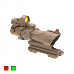 AIM 4x32IR ACOG QD style scope COMBO Desert