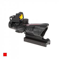 AIM red dot type ACOG 4X32C Fibre COMBO noir -
