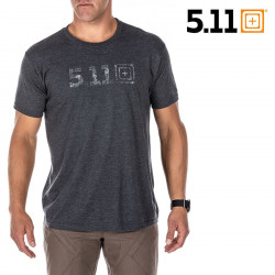 5.11 LEGACY TOPO Tee - Charcoal Heather -